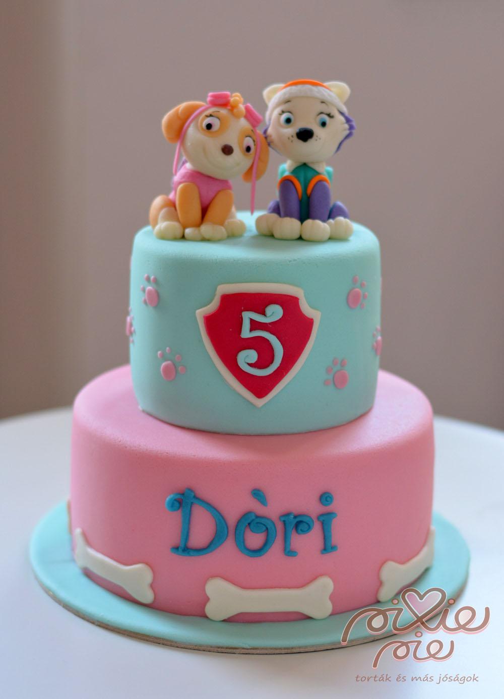 lányos szülinapi torták képek Lányos mancs torta   PixiePie torta lányos szülinapi torták képek