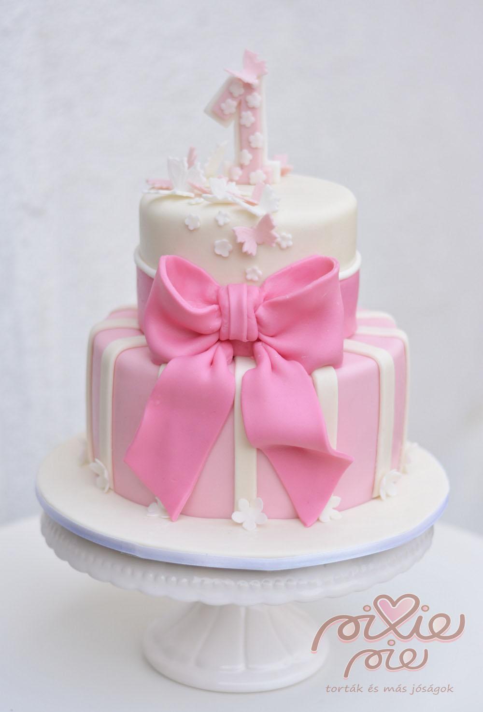 rózsaszín szülinapi torta Rózsaszín torta kislányoknak   PixiePie torta rózsaszín szülinapi torta