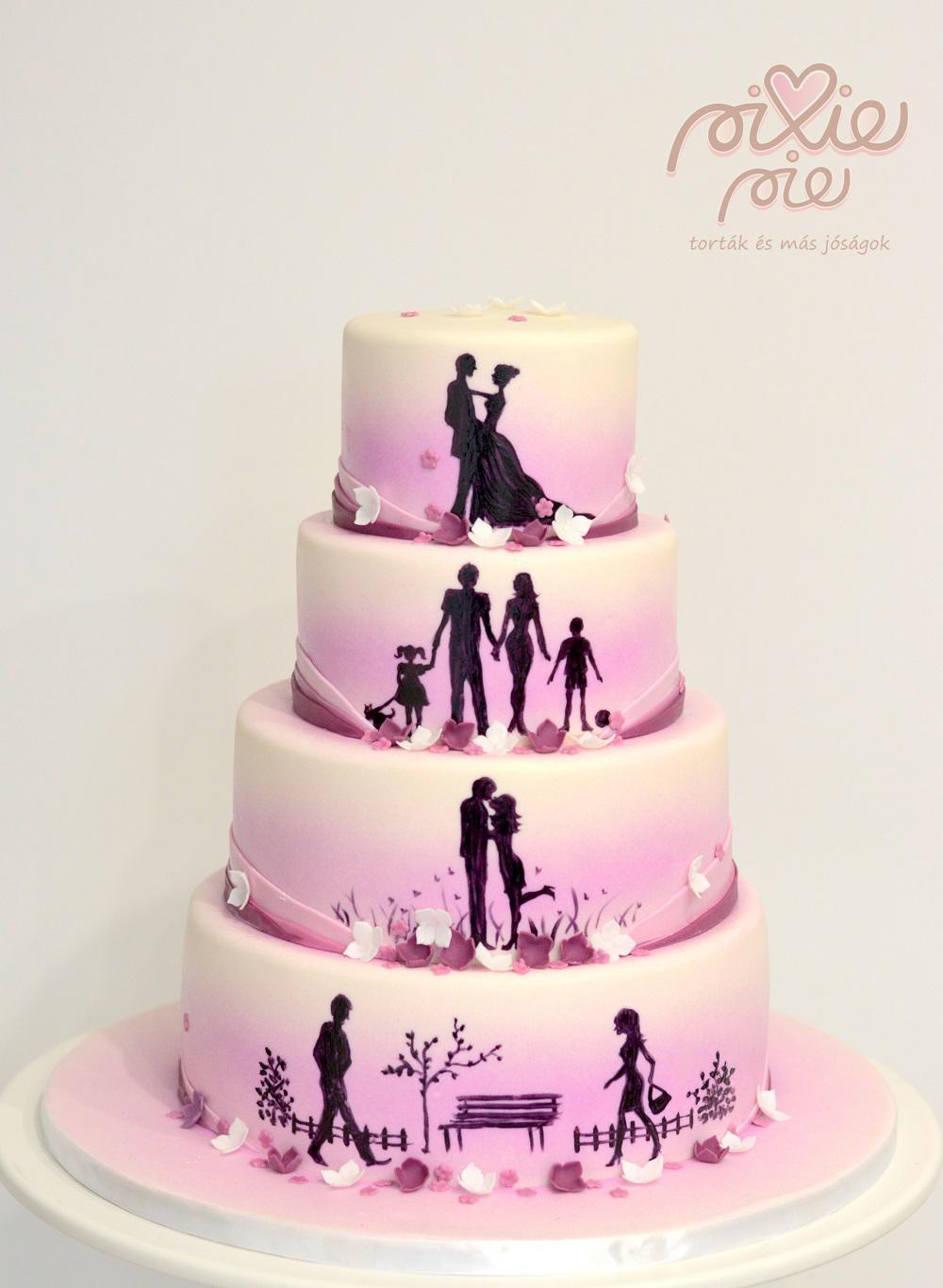 0347f429b7 Esküvői torták - PixiePie torta