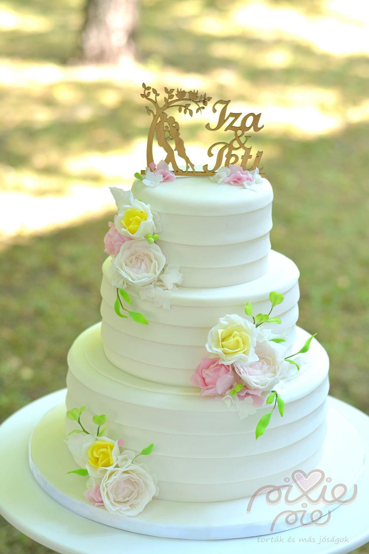 virágos esküvői torta sarga viragos eskuvoi torta   PixiePie torta virágos esküvői torta