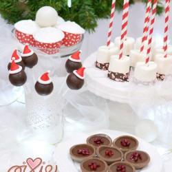 karácsonyi desszertasztal