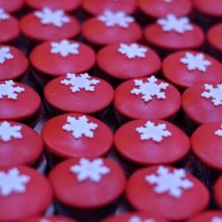 piros cupcake